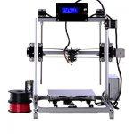 Prusa i3 3d Drucker DIY Kit RepRap Auto Nivellierung mit großen 3D Druck Größe Hohe Genauigkeit und Stabilität Beheiztes Bett LCD Display (Silber)